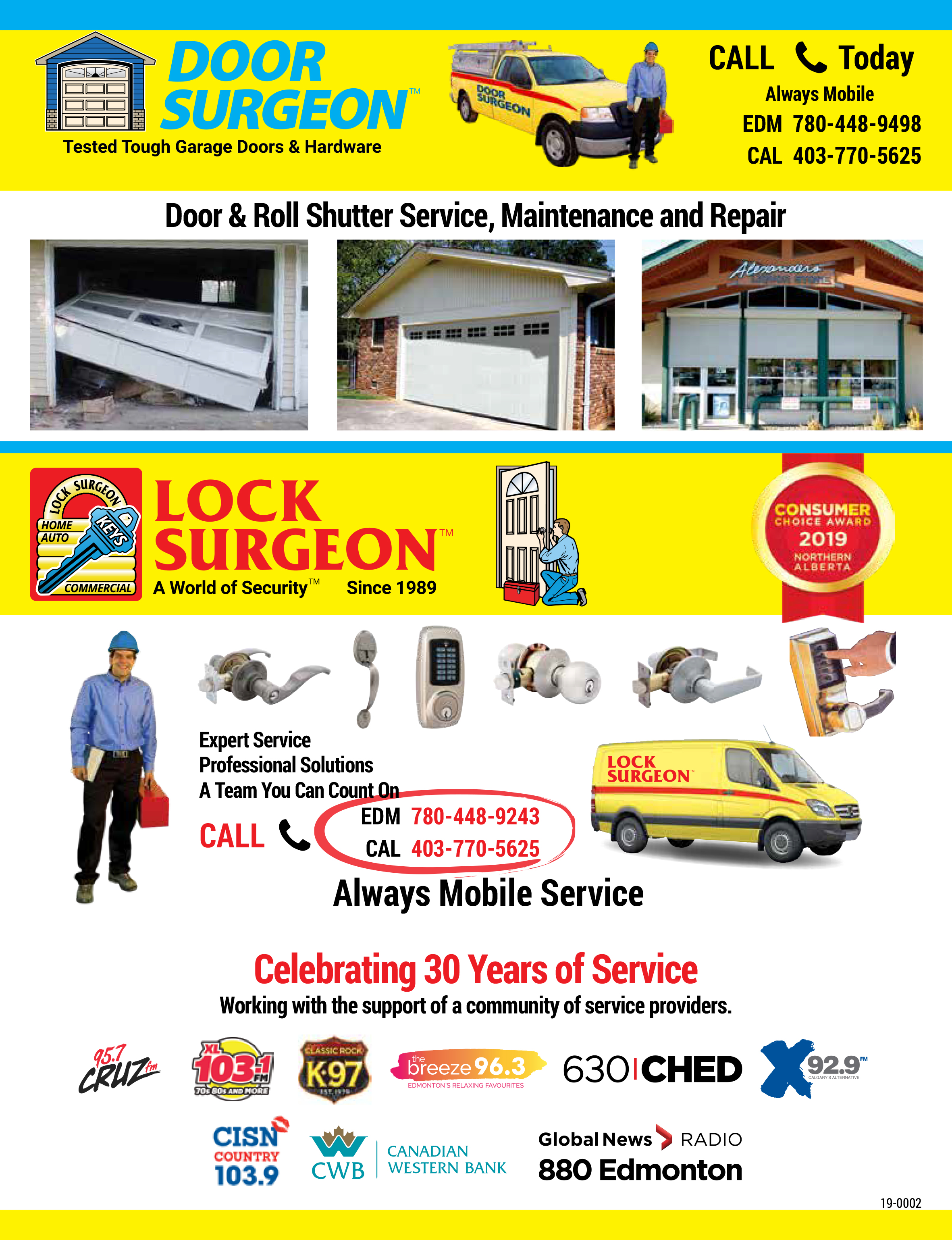 Door Surgeon professional service providers can fix, repair or replace doors of every kind. Garage doors, man doors, Handicap access doors, automatic sliding doors are all part of our service abilities.